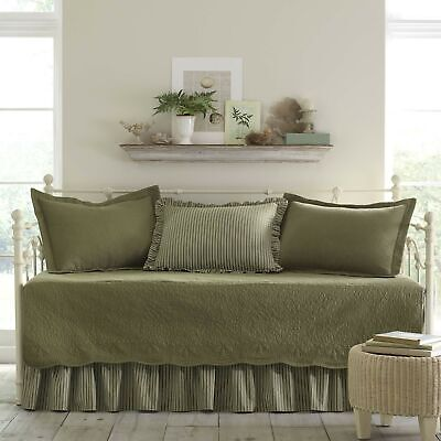 Brand New Stone Cottage Trellis 5-Piece Daybed Set, Aloe
