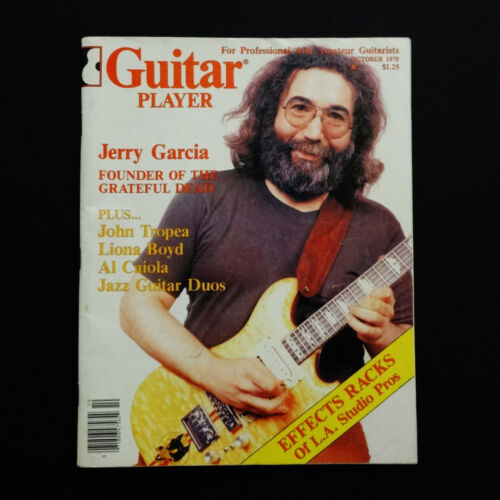 Grateful Dead Jerry Garcia Guitar Player Magazine 1978 October Cover Photo JGB