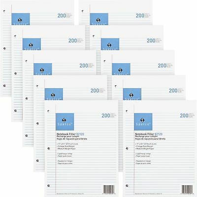 Sparco Filler Paper 3-hp College Ruled 11x8-12 2000bd White 82120bd