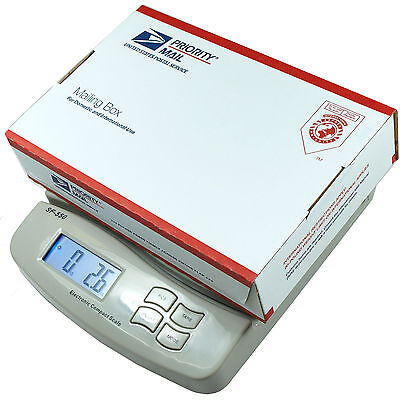 55 Lb X 0.1 Oz 25 Kg X 1g Digital Postal Scale Shipping Scale Sf-550 V2 White