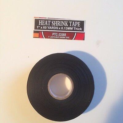 "1""x 60 YARDS BLACK HEAT SHRINK TAPE"