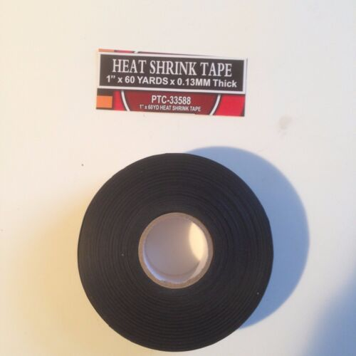"1""x 60 YARDS BLACK HEAT SHRINK TAPE"