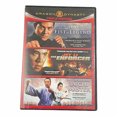 Fist of Legend/The Enforcer/Tai Chi Master (DVD,2011,3-Disc Set) Jet Li Collect.