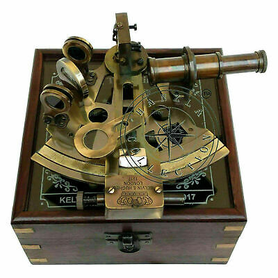 Large Brass Ships Sextant Maritime Nautical Style Display Film Prop  Ship Boat
