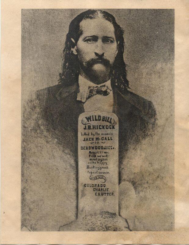WILD BILL J. B. HICKOCK FUNERAL NOTICE