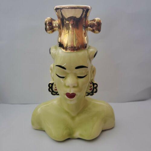 Nubian Head Vase Unique collectable  funky vintage