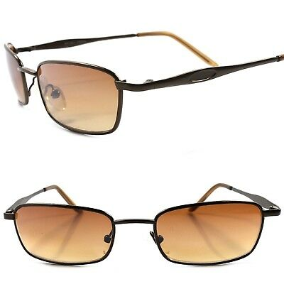 Deadstock Vintage Retro 70s 80s Urban Fashion Brown Small Rectangle Sunglasses