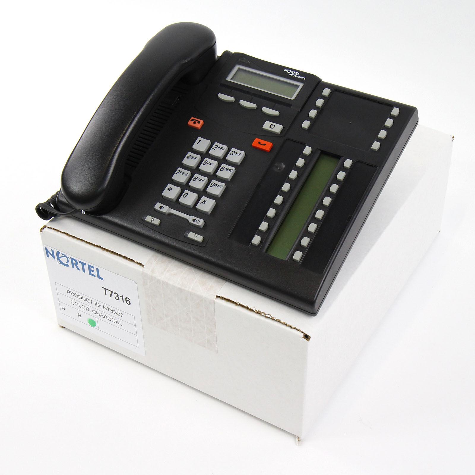 Nortel Norstar T7316 Charcoal Avaya Phone (NT8B27) - Bulk