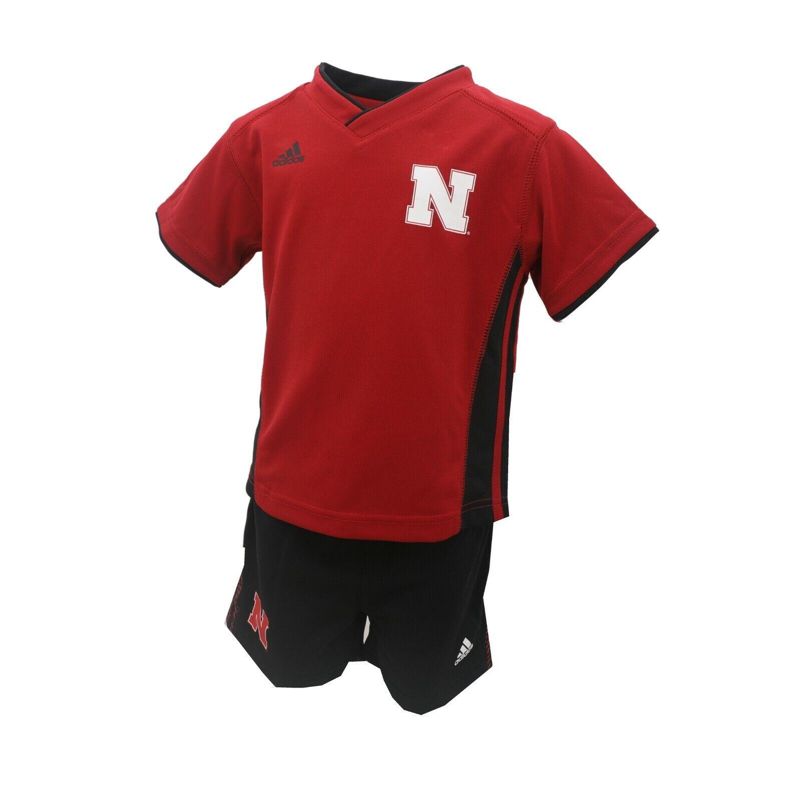 bdb00f62f Nebraska Cornhuskers NCAA Adidas Infant Size 2 Piece Shirt & Shorts Combo  Set