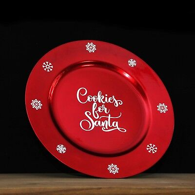Cookies for santa christmas eve plate. Snow flakes. Charger red fun children](Halloween Cookies For Kids)