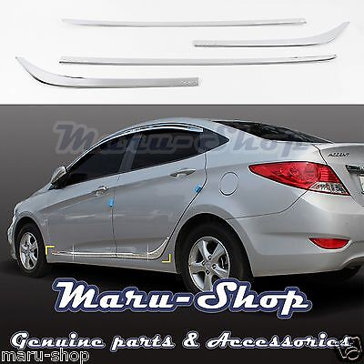 Chrome Side Skirt Molding Trim Cover for 12 Accent 4//5DR