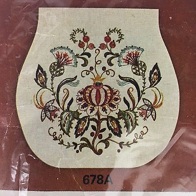 Crewel Embroidery Kit Chair Seat Cover Jacobean Design Pillow Creative Stitchery