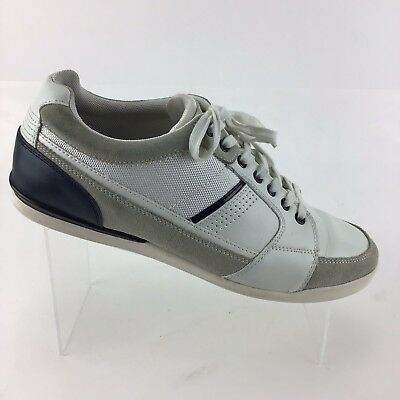 Aldo Casual Comfort Walking Sneakers White Gray Black Lace Up Mens 12 Shoes