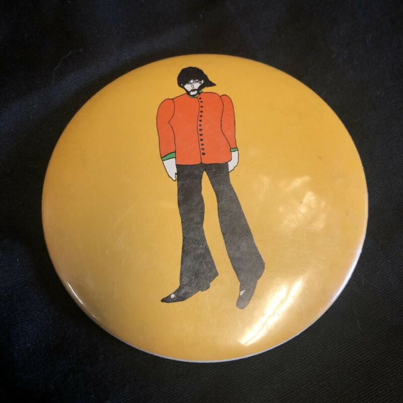 "Beatles Yellow Submarine 3.5"" Button George Vintage 1968"