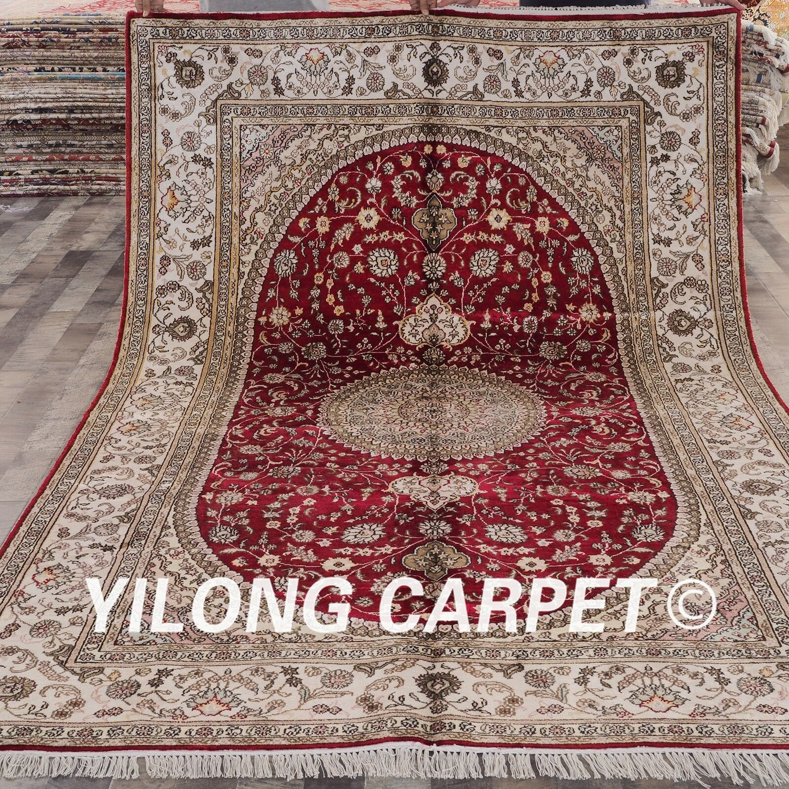 YILONG 6'x9' Hand Knotted Area Rug