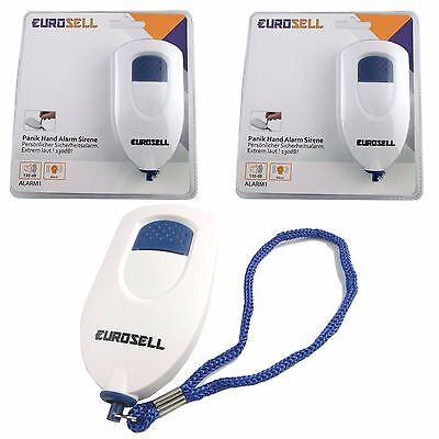 2 Stück Personenalarm Mobiler Alarm Sirene Mobile Reise Handtaschen Sicherheit