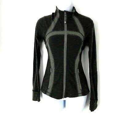 Women 2 Lululemon Define Track Jacket Coat Deep Camo Pique Heathered Wren Zip