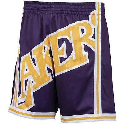 Los Angeles Lakers NBA Mitchell & Ness Big Face Shorts - Purple/Yellow