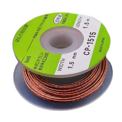 Us Stock 2pcs 1.5mm 1.5m Bga Desoldering Braid Remover Wire Cp-1515