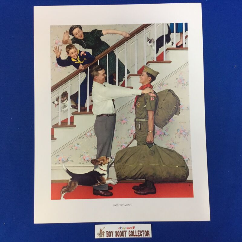 """Boy Scout Norman Rockwell Print 11""""x14"""" Homecoming"""