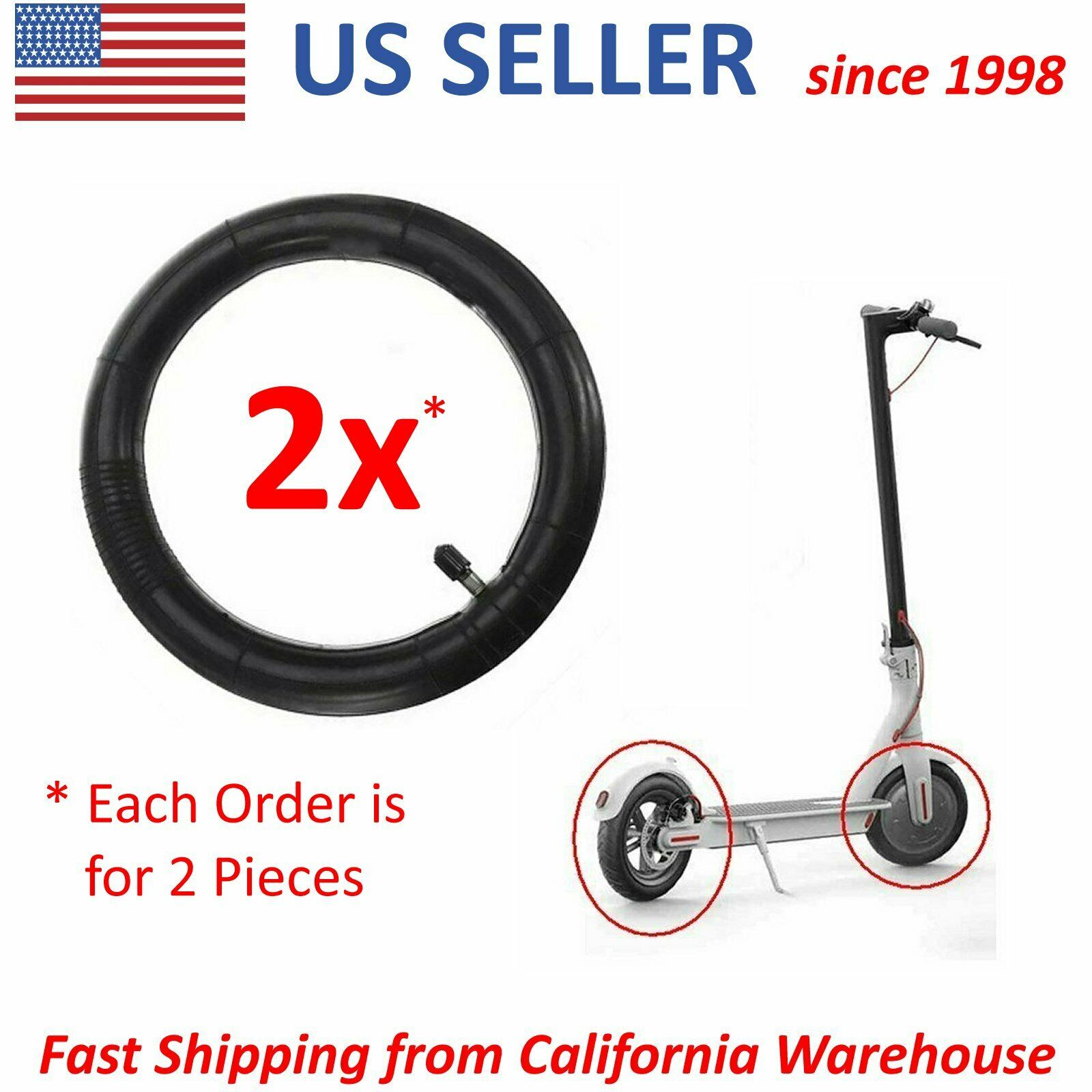 Replacement Anti-Slip Scooter Inner Tube 8 1//2x2 For Xiaomi Scooter Z2E1 F7A9