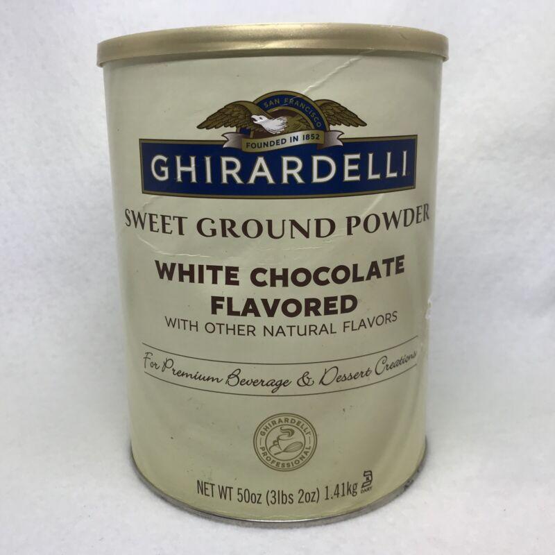 Ghirardelli Chocolate Sweet Ground White Chocolate Flavor Beverage Mix, 50oz