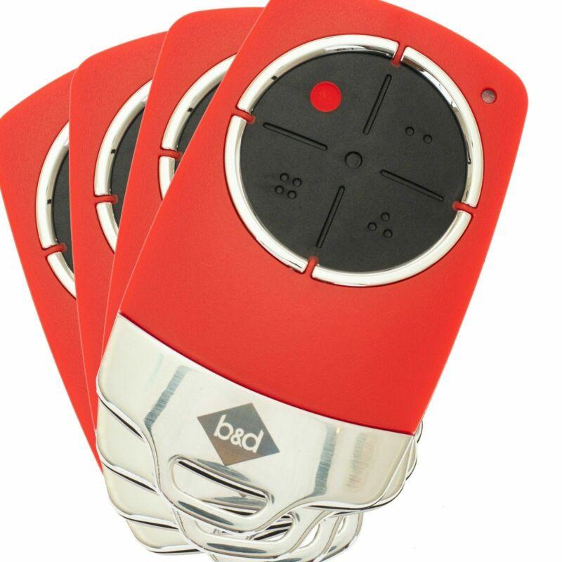 B&D TB6 Remote Tri Tran+ TB-6 Garage Door Remote Control 62871 Red TriTran x4