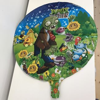 1 X Plants Vs Zombies Foil Helium Balloon