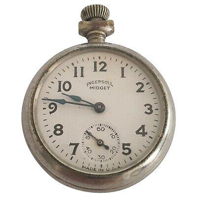 Ingersoll Midget Pocket Mechanical Watch - Made in USA
