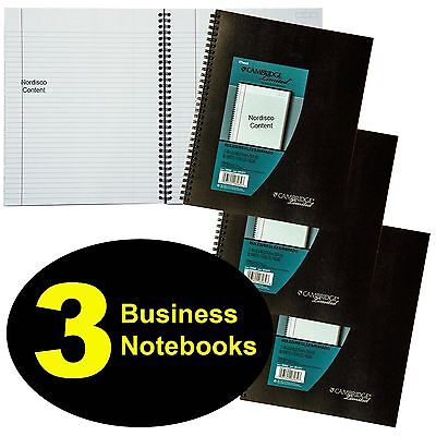 3 Each Mead 06062 Cambridge Limited Business Notebook 11 X 8-14 80 Sheets