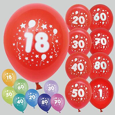 30 / 50 Luftballons bunt Wunschzahl für Geburtstag Feier Party Dekoration Jahr