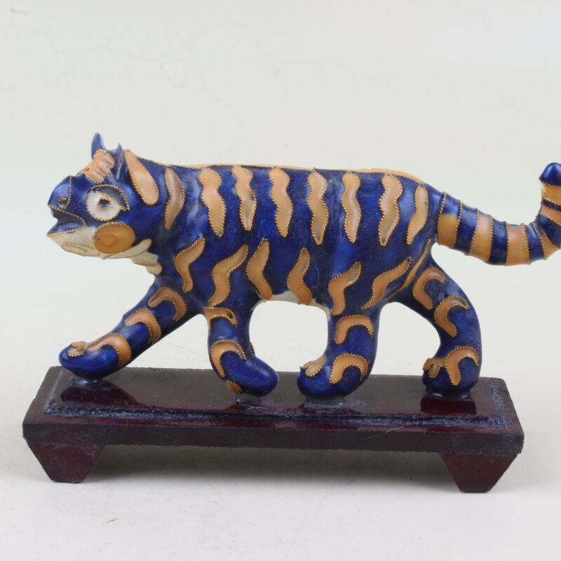 Chinese Collection alloy Sculpture tiger model statue  XJ31