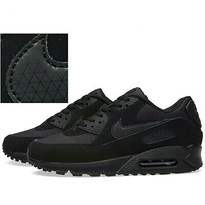 NEW AIR MAX 90 Triple Black  Men's Trainers  UK- FREE DELIVERY