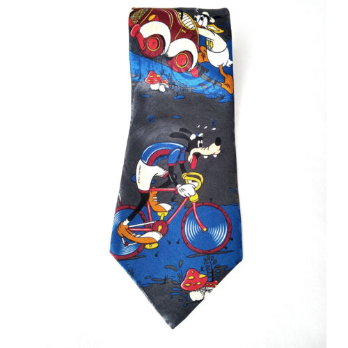 """NWT Disney Mickey Unlimited Tie: Novelty Goofy Donald Duck Poly 4"""" 58L  90"""