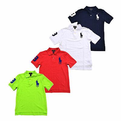Boys Big Pony (Polo Ralph Lauren Boys Big Pony Polo Shirt Classic Fit Mesh Collared Top New Nwt)