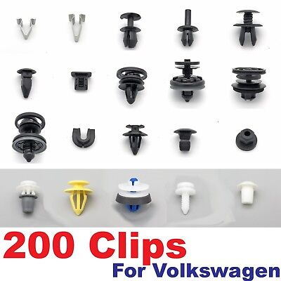 200 Piece Trim Clip Assortment for Volkswagen Cars- 20 of our most popular clips