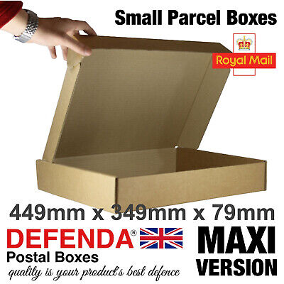 200 MAXIMUM Size Royal Mail SMALL PARCEL BOXES PiP Postal 449mmx349mmx79mm