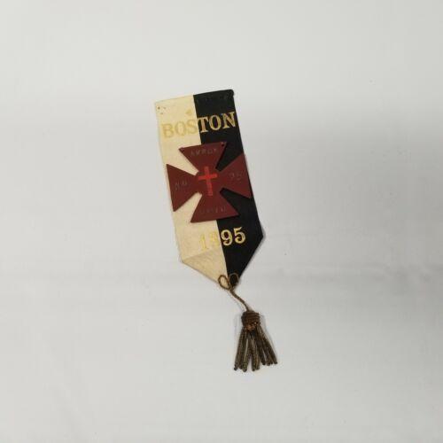 Original 1895 Knights Templar Akron Ohio Commandery Ribbon Boston