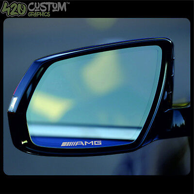 4 x Mercedes AMG Mirror Decal Sticker Detail-Best Quality-Many Colours-Easy
