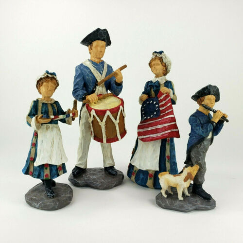 Americana Patriotic Figurines Family 4th of July Set of 4 Jim Shore Style 2009