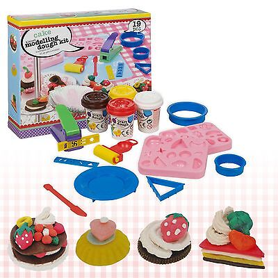 19 Piece Cupcake Cake Play Dough Craft Modelling Mould Tubs Doh Clay Set