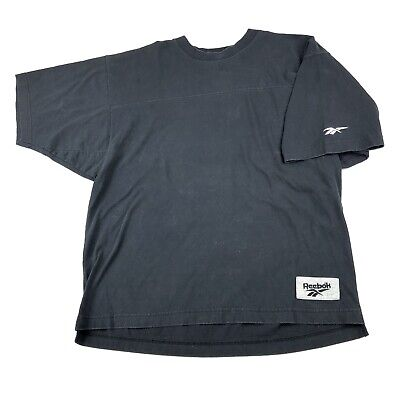 Vintage 90s Reebok T Shirt Medium Thick Cotton Tee Black Embroidered Logo -