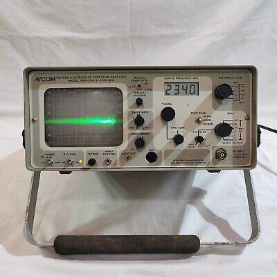 Avcom Portable Spectrum Analyzer Psa-65. 21000 Mhz. Made In Usa