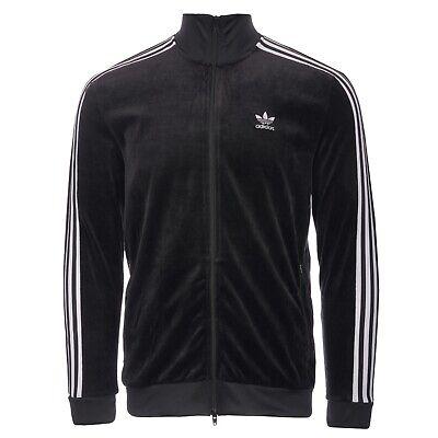 BNWT Adidas Originals Cozy Velour Track Top Jacket Black DX3626 - XS