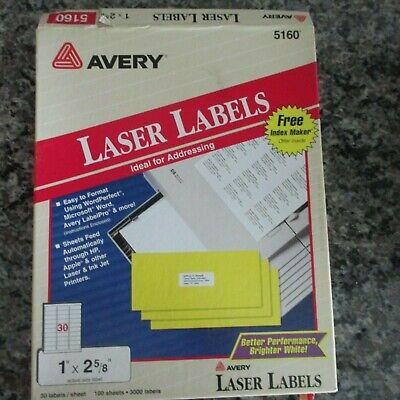 780 Avery 5160 Address Mailing Labels 1 X 2 58 26 Full Sheets Euc