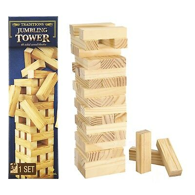 NEW Cardinal Games Jumbling Tower Traditional Family Fun Party Wooden Game Gift!