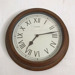 "Vintage Look Chaney Round Metal Wall Clock Rustic 12 Glass Face 8 3/4""Battery"