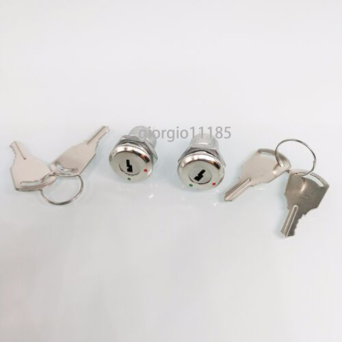 US Stock 2Set Key Switch OFF-ON Lock Metal Toggle Lock Security KS-02 Electronic