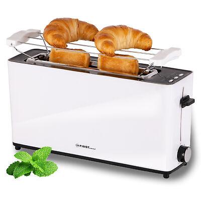 Langschlitztoaster 2 Scheiben Toaster mit Brötchenaufsatz Sandwichtoast 900 Watt