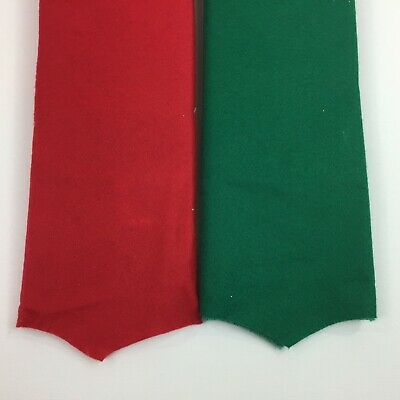 "Holiday Time Set 2 Red Green 48"" Felt Christmas Tree Skirt Round Scallop Edge"